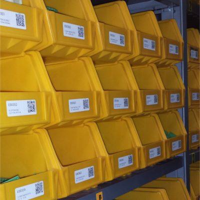 Yellow Bins Square 1